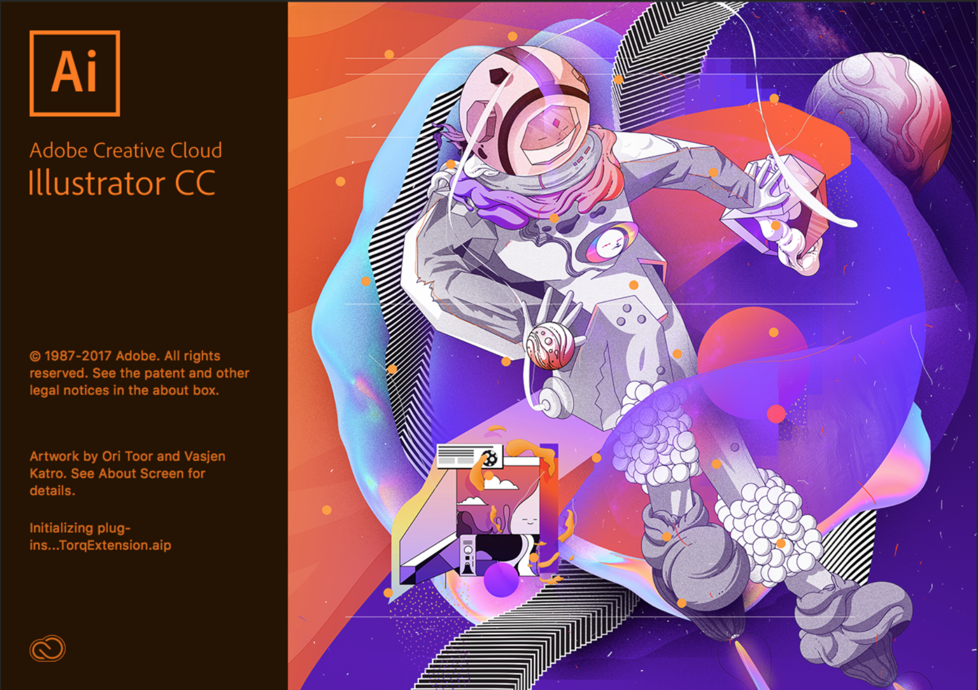 Adobe Illustrator Opening Screen