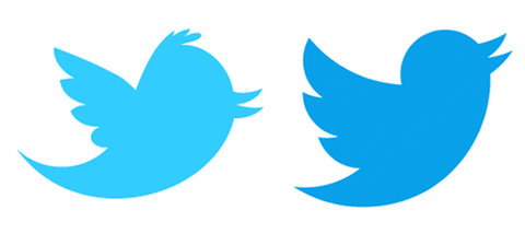 old and new twitter logo