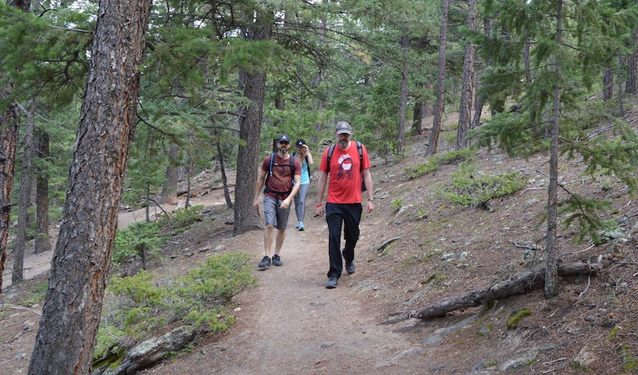 the Ascend team hiking in Three Sisters Park in Evergreen Colorado
