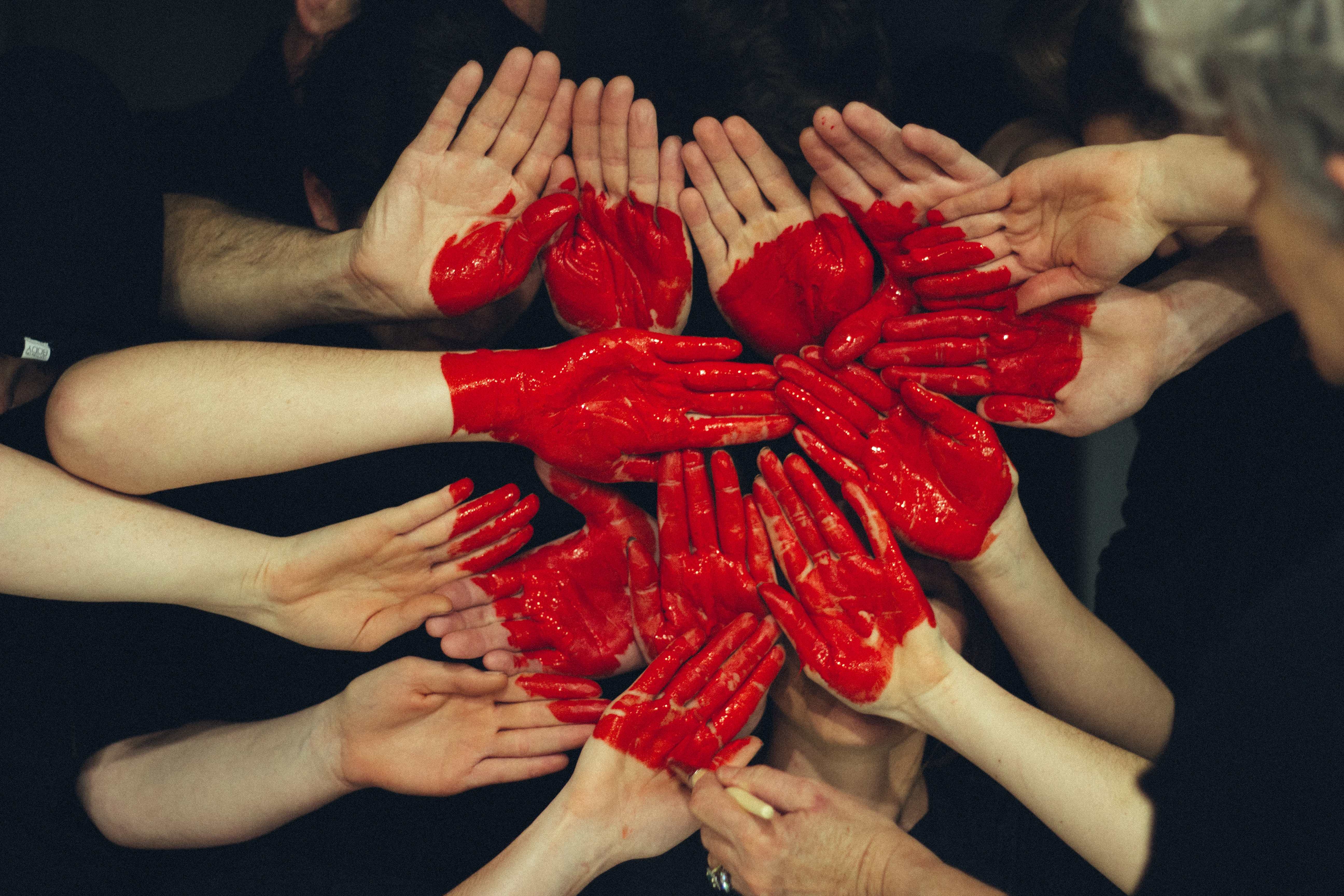 hands formed into heart