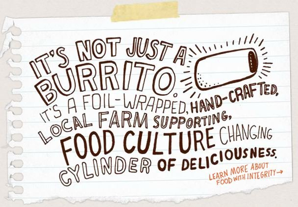 Chipotle ad that lists their differentiators