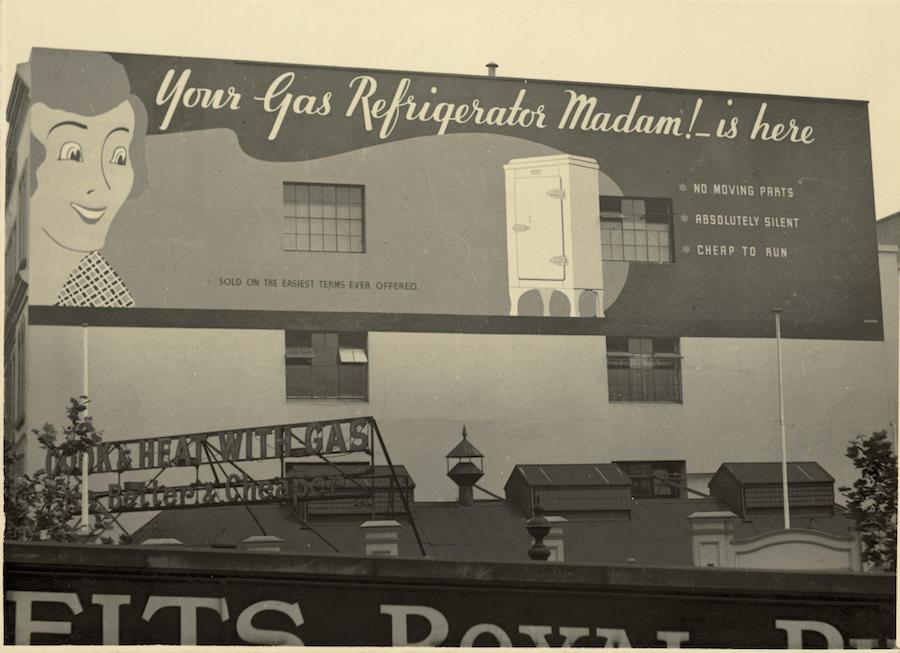 old vintage billboard