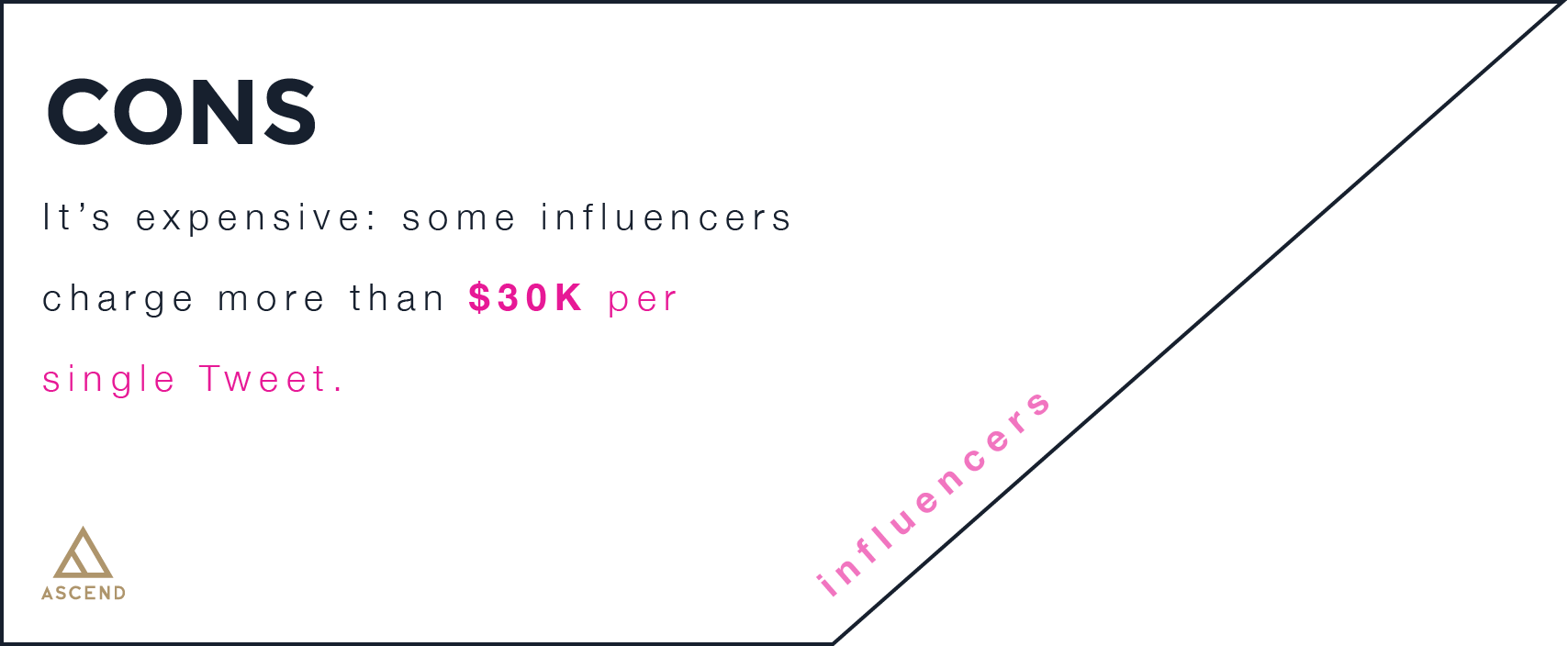 infographic with the cons of influencer marketing
