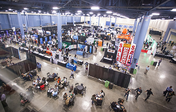 aerial view of the small business expo
