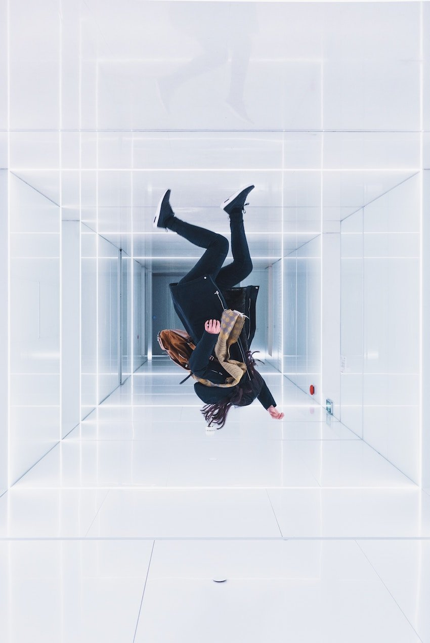 upside down woman in prism
