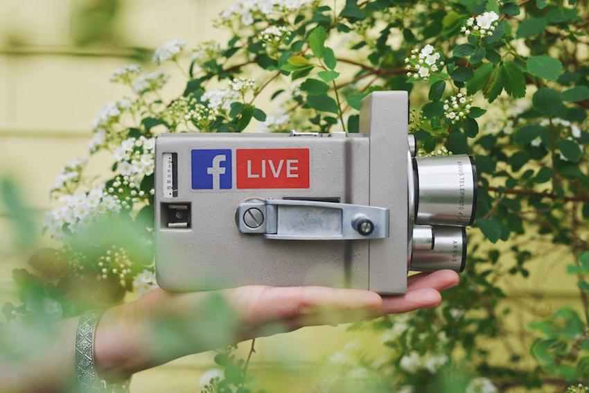 Facebook live video camera