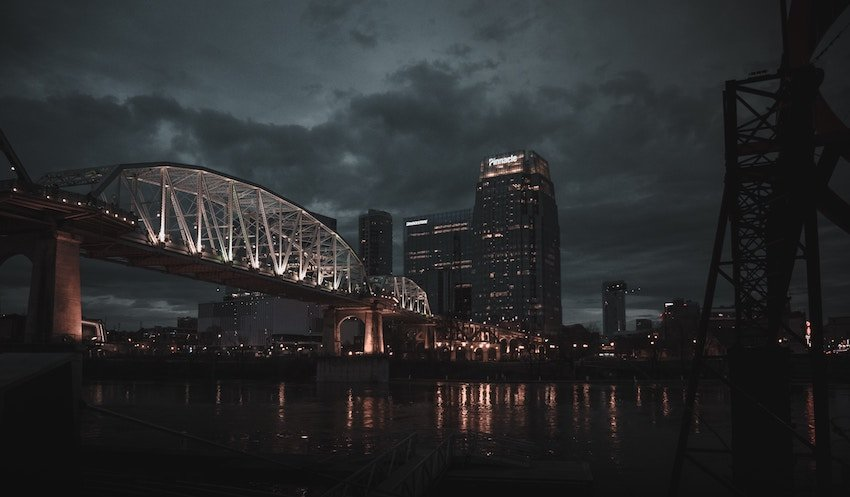 photo of downtown Nashville Tennessee