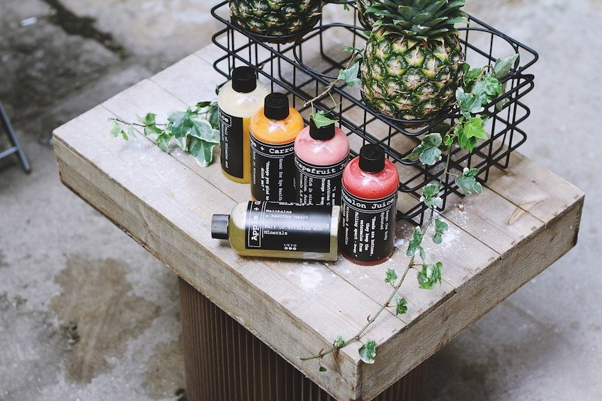 collection of skincare products made with natural ingredients