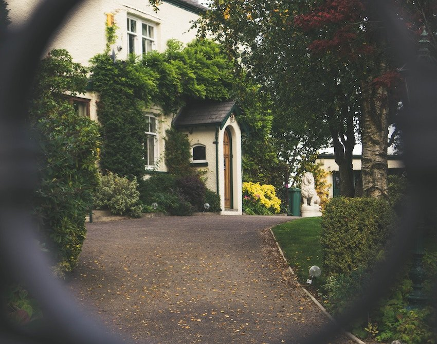 view of house through gate