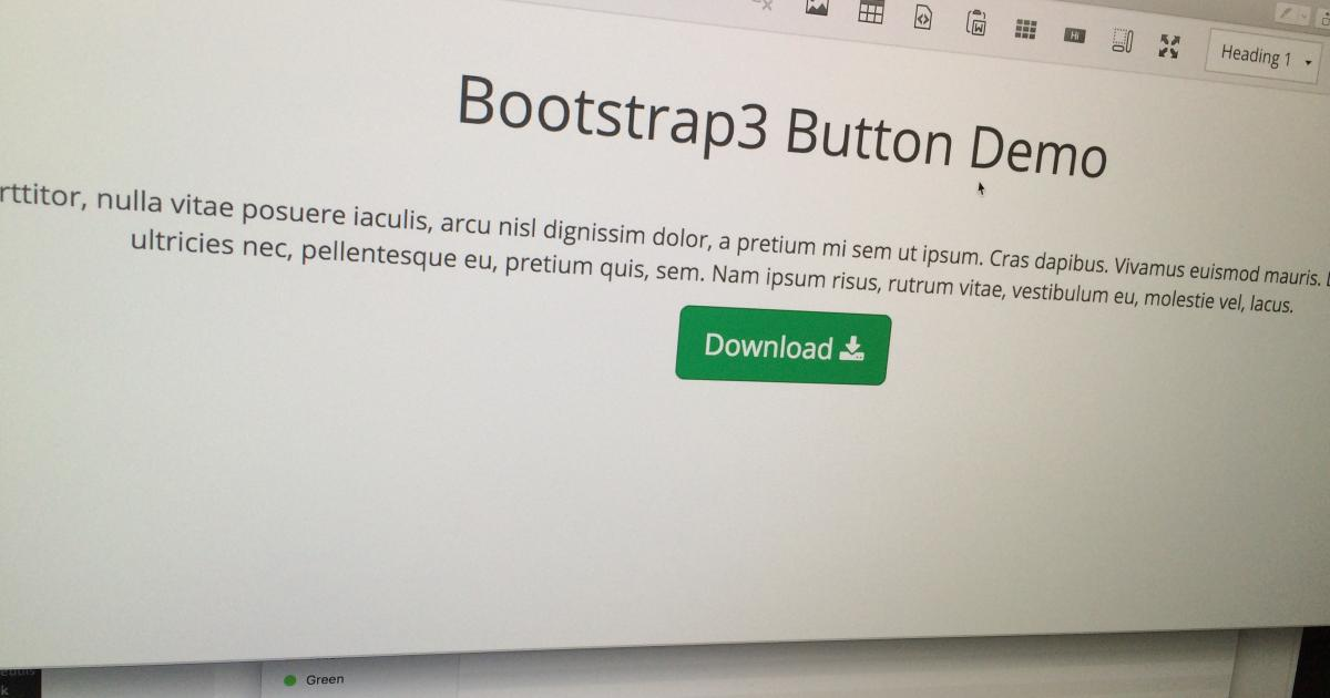 CKEditor4 Bootstrap3 Button Widget | Free Download